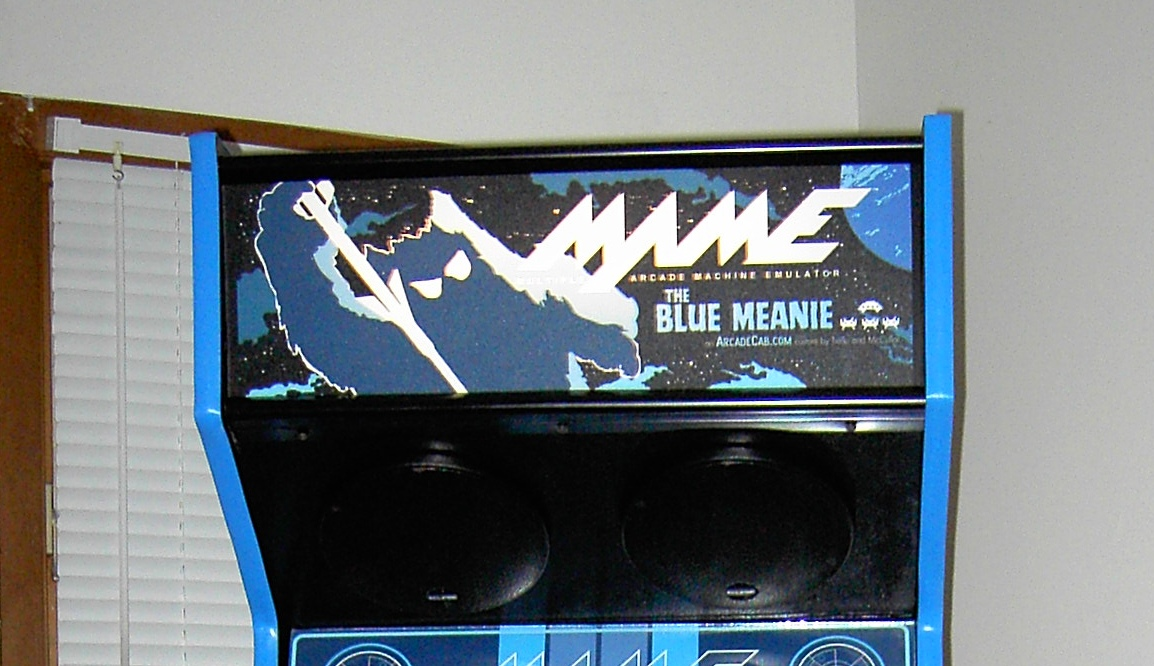 Blue Meanie marquee in place