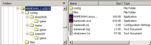 Mamewah v.1.62b13 root folder