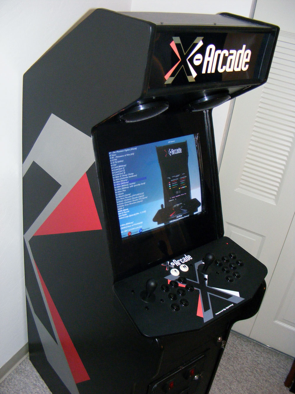 Blake W's X-arcade-themed MAME cabinet